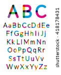 english alphabet. vector... | Shutterstock .eps vector #418178431