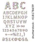 english alphabet. vector... | Shutterstock .eps vector #418178659