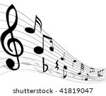 musical notes staff with lines... | Shutterstock . vector #41819047