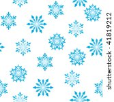 seamless  snowflakes background ... | Shutterstock . vector #41819212