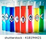aligned chemical danger... | Shutterstock . vector #418194421
