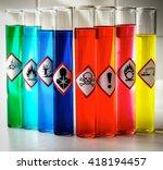 aligned chemical danger... | Shutterstock . vector #418194457