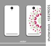 phone cover with floral round... | Shutterstock .eps vector #418198201