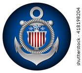 coast guard's day in the united ...   Shutterstock .eps vector #418198204