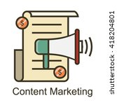 content marketing icon | Shutterstock .eps vector #418204801