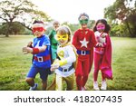 superhero kids aspiration... | Shutterstock . vector #418207435