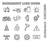 emergency line icons  mono... | Shutterstock .eps vector #418210684
