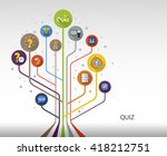 quiz flat concept with long... | Shutterstock .eps vector #418212751