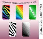 five  style mobil phone covers.... | Shutterstock .eps vector #418215784