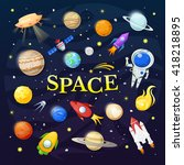 space vector illustration ... | Shutterstock .eps vector #418218895