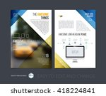 brochure template layout  cover ... | Shutterstock .eps vector #418224841