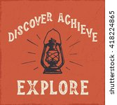 'discover achieve explore'... | Shutterstock .eps vector #418224865