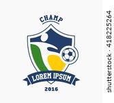 logo football champ. abstract... | Shutterstock .eps vector #418225264