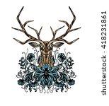 stylized vector illustration of ... | Shutterstock .eps vector #418231861