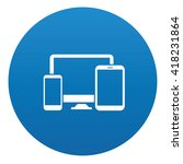 responsive icon on blue button... | Shutterstock .eps vector #418231864