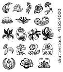 stylization flowers | Shutterstock .eps vector #41824000