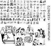 family set of black sketch.... | Shutterstock .eps vector #41824672