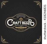 craft beer sticker label design.... | Shutterstock .eps vector #418246831