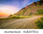 windy road on the coast   cabot ... | Shutterstock . vector #418247011