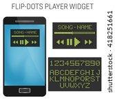 flip dots player widget design