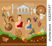 ancient history. ancient rome.... | Shutterstock .eps vector #418259197