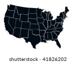 3d render of usa map | Shutterstock . vector #41826202