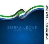 Sierra Leone Flag Ribbon  ...