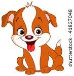 smiley cute puppy | Shutterstock .eps vector #41827048