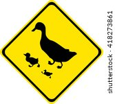 road sign warning about the... | Shutterstock .eps vector #418273861