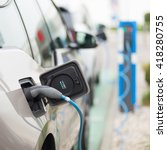 power supply for electric car... | Shutterstock . vector #418280755