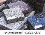 piles of granite slab | Shutterstock . vector #418287271