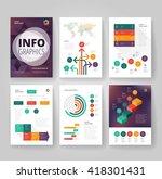 business brochure design... | Shutterstock .eps vector #418301431