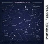constellations  night sky ... | Shutterstock .eps vector #418301821