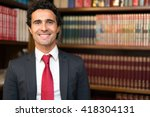smiling lawyer portrait | Shutterstock . vector #418304131