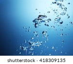fresh water with air bubbles | Shutterstock . vector #418309135