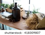 dried flower on table background | Shutterstock . vector #418309807