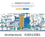 illustration of vector modern... | Shutterstock .eps vector #418312081