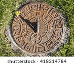 Old Rusty Sundial In The...
