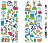 chemistry pharmacology natural... | Shutterstock .eps vector #418316785