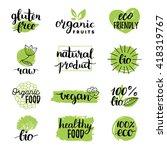 vector eco  organic  bio logos... | Shutterstock .eps vector #418319767