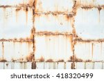Rusty On White Iron Gates Plat...