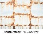 Rusty On White Iron Gates Plat...