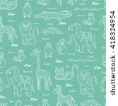 vector seamless pattern with... | Shutterstock .eps vector #418324954