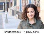 closeup portrait  happy... | Shutterstock . vector #418325341
