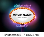 theater sign and neon light ... | Shutterstock .eps vector #418326781