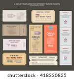 tickets in different styles.... | Shutterstock .eps vector #418330825