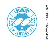 laundry room vector logo ... | Shutterstock .eps vector #418332025