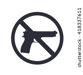 no guns sign with pistol  gun...