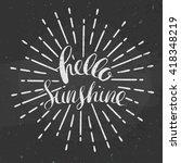 hello sunshine poster  vector...   Shutterstock .eps vector #418348219