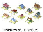 isometric image of a private... | Shutterstock .eps vector #418348297